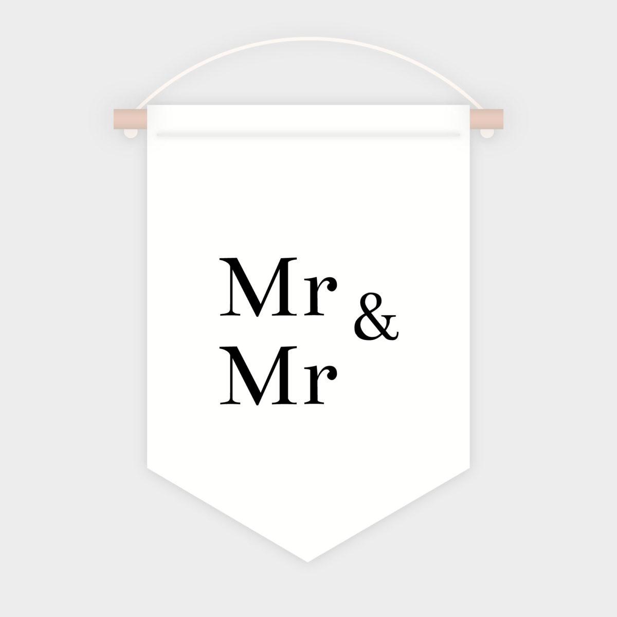 Banderola Mr Mrs Para Sillas