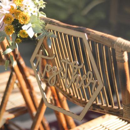 Better together decoración para sillas de boda detalle