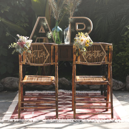 Better together decoración para sillas de boda