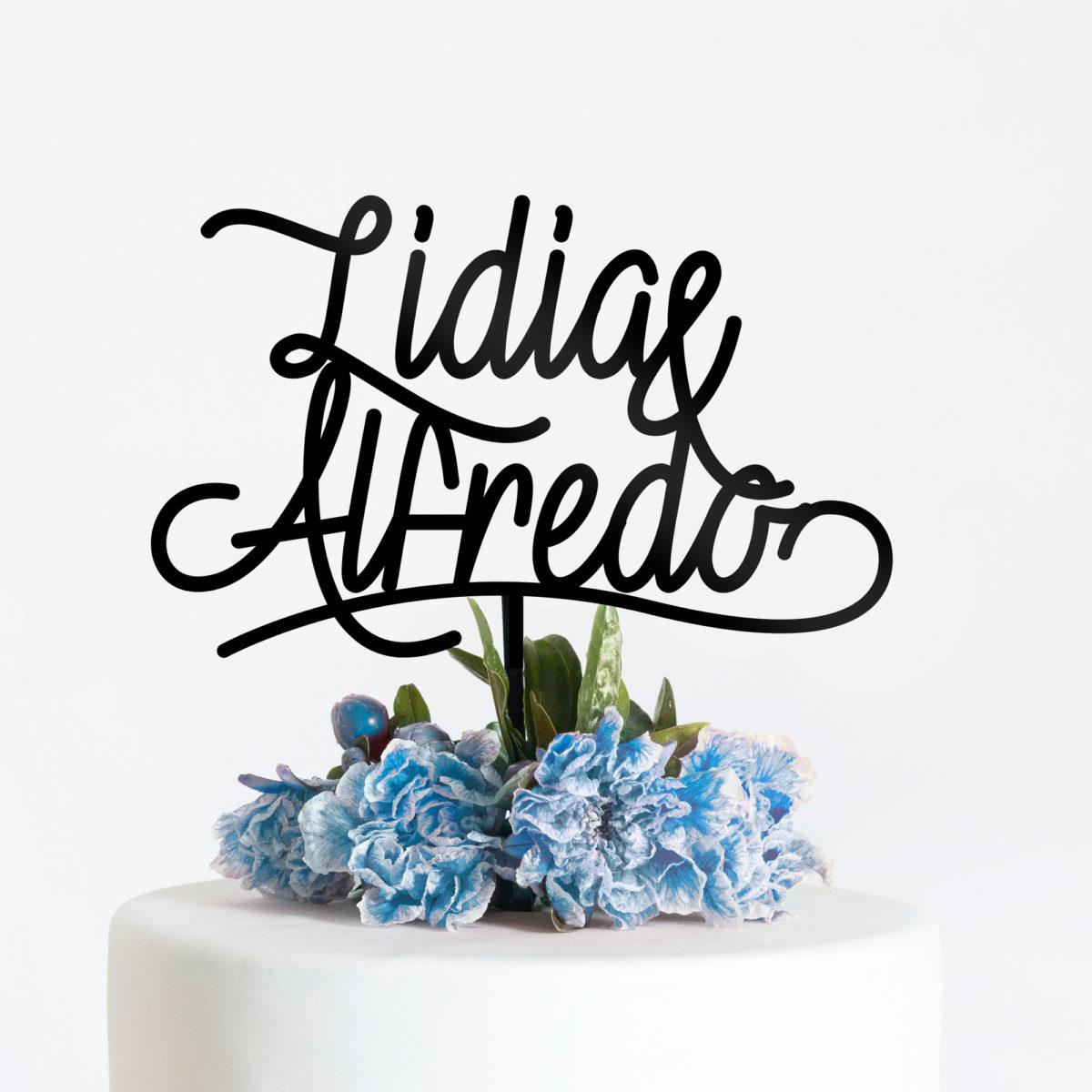 Cake Topper Blue Velvet