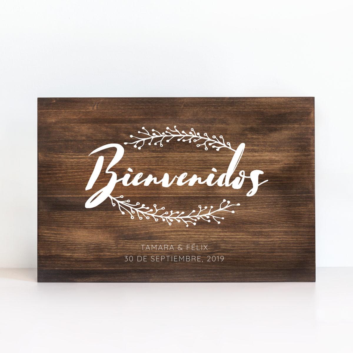Cartel Bienvenidos Ramitas