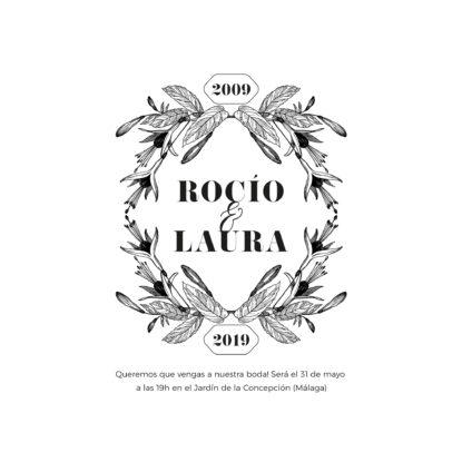 Invitación de boda transparente A6 Bouquet diseño