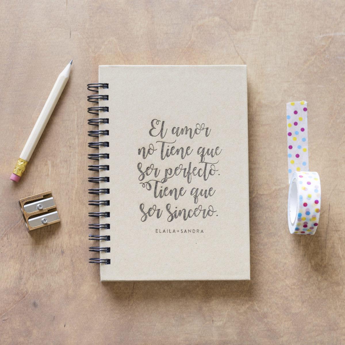 Libreta Amor Sincero