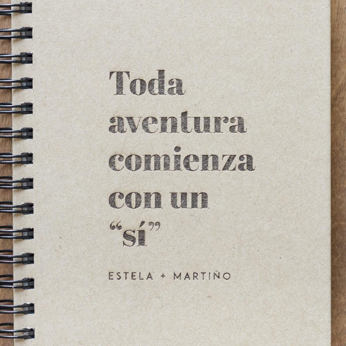 Libreta Toda Aventura Comienza Con Un Sí