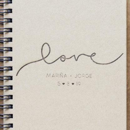 Foto detalle de la Libreta Love