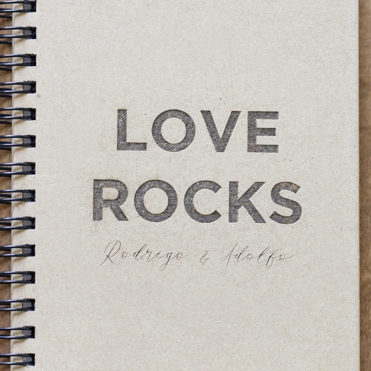 Libreta Love Rocks