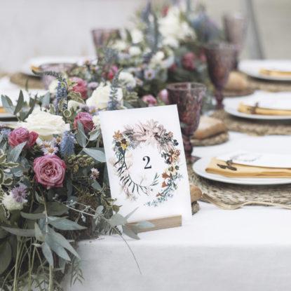 Mesero de papel Corona de Flores