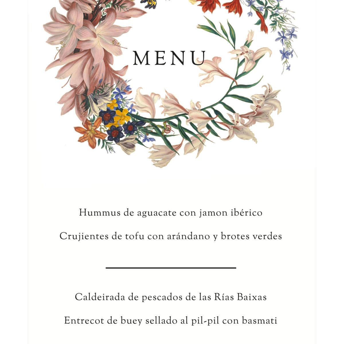 Minuta Corona De Flores