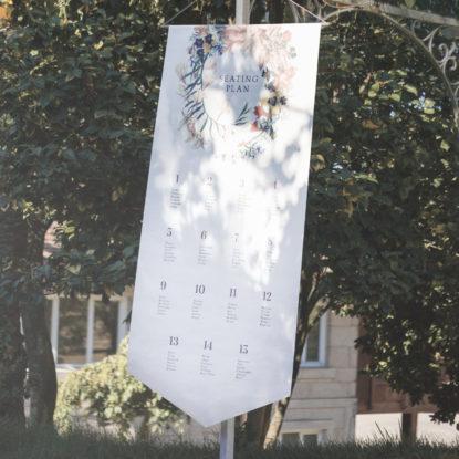 Banderola Seating Plan Corona de flores