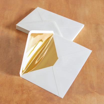 Sobre para invitaciones de boda forro dorado