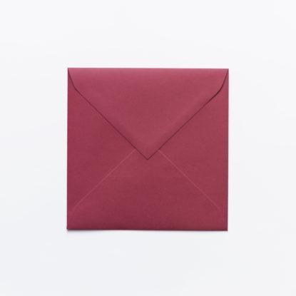 Sobre para invitaciones de boda cuadrado rojo
