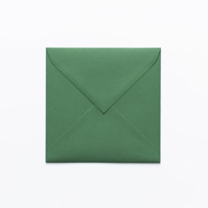 Sobre para invitaciones de boda cuadrado verde