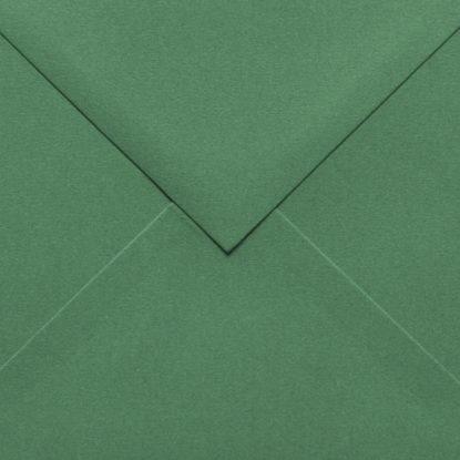 Sobre para invitaciones de madera cuadrado verde detalle