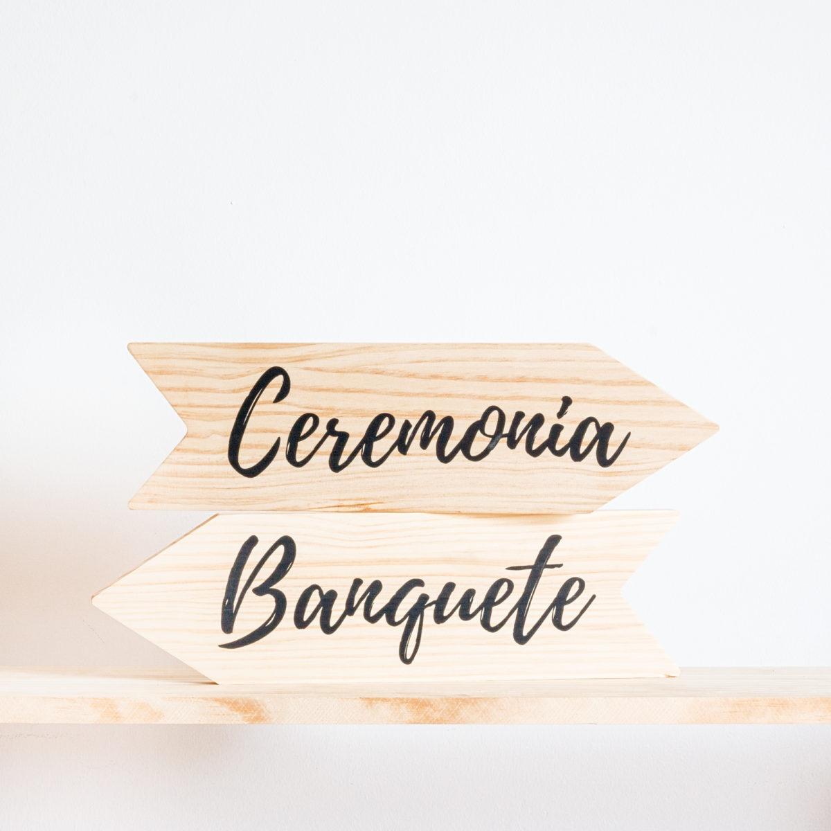 Cartel Flecha (Ceremonia, Baile o Banquete)