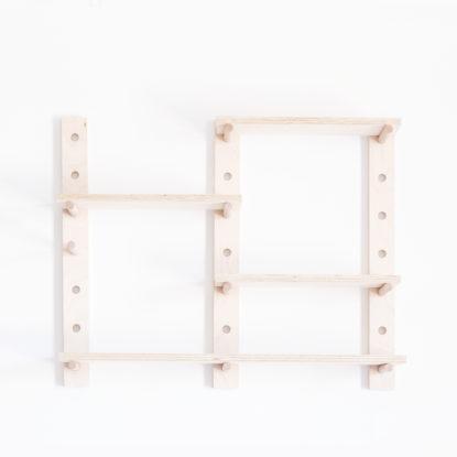 Estanteria modular de madera de abedul sin objetos