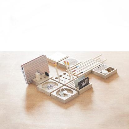 Módulos de escritorio de madera pack completo