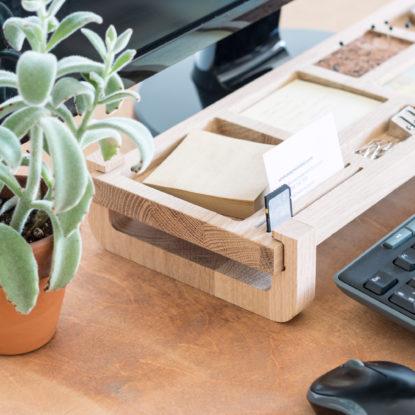 Organizador de escritorio de diseño detalle