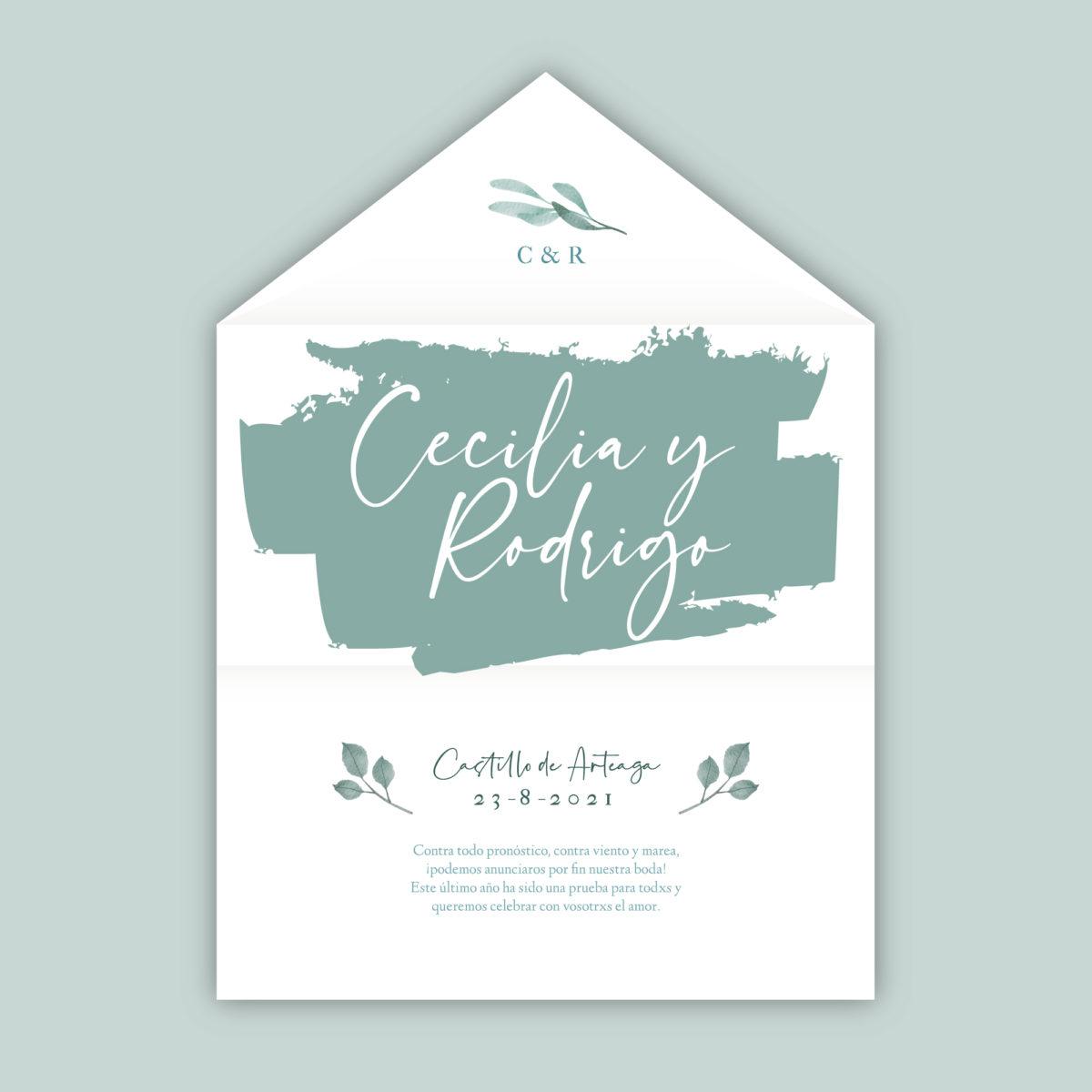 Invitación-sobre Celeste