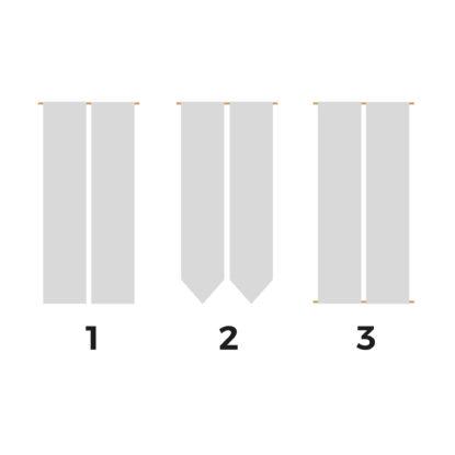 Banderola de boda doble para seating plan acabados