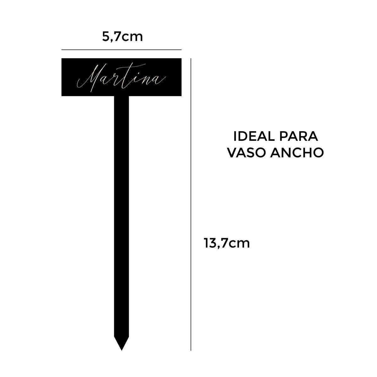 Marcacopas personalizado negro (mate o brillo)